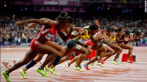 sprinters starting blocks